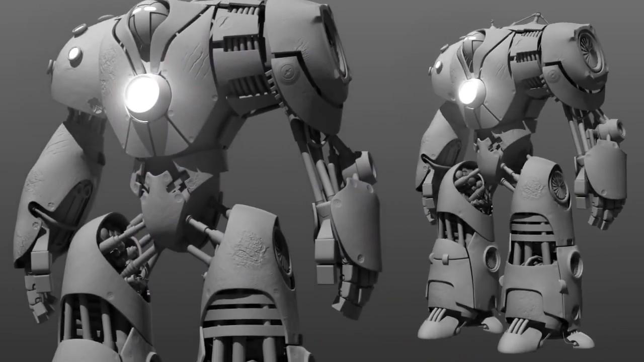 Creando un robot en Autodesk Maya y ZBrush