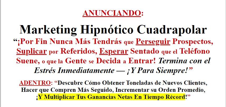 Marketing Hipnótico Cuadrapolar - Alejandro Pagliari