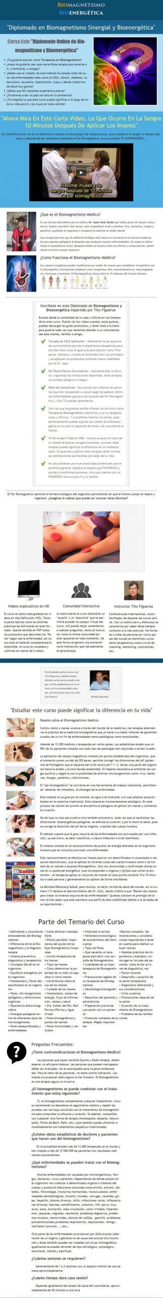 Biomagnetismo Sinergial y Bioenergética – Tito Figueroa