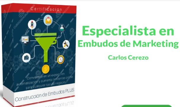 Especialista en embudo de marketing – Carlos Cerezo