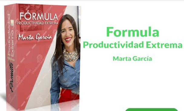 Formula productividad extrema – Marta García