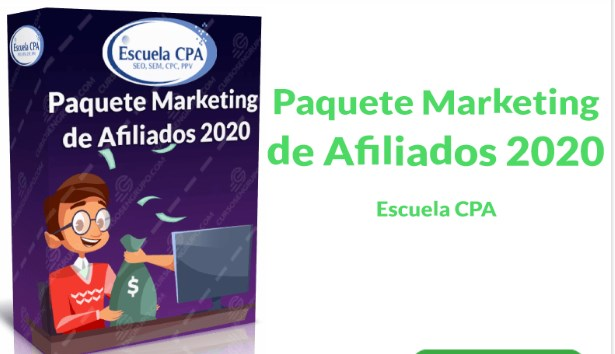 Paquete Marketing de Afiliados 2020 –Escuela CPA